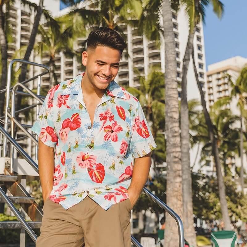 Contoh kemeja hawaii pria