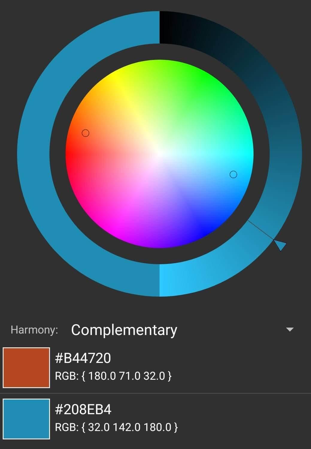 Kombinasi Warna Komplementer