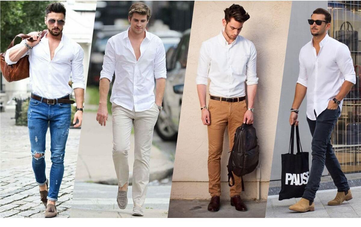 Kombinasi Warna Baju dan Celana Pria Putih