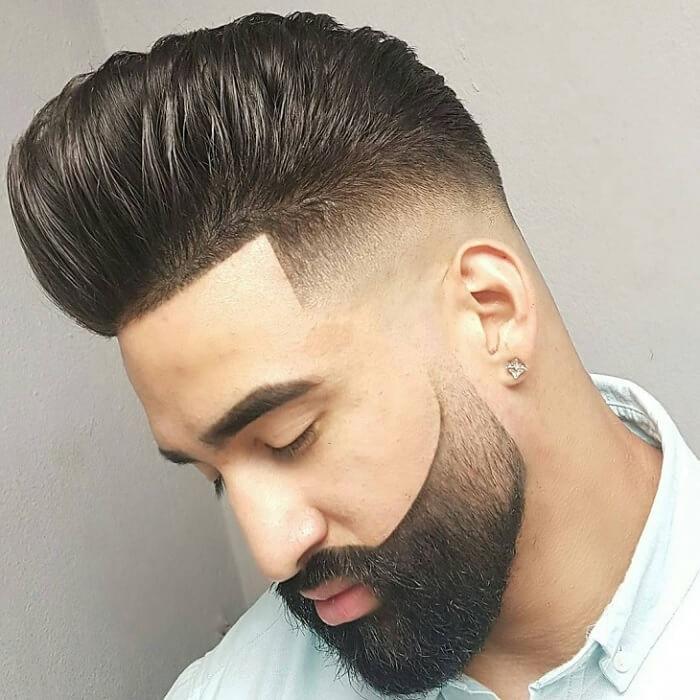 Gaya Rambut Pendek Pria - Fade Quiff & Beard