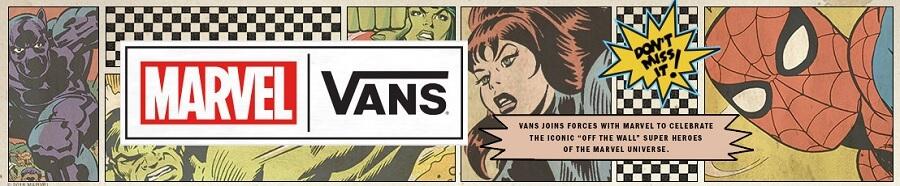 Poster Kolaborasi Vans x Marvel 2018