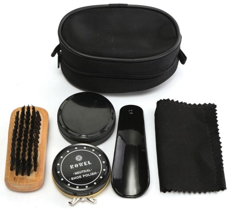 Peralatan untuk Menyemir Sepatu Kulit - Set Semir Sepatu
