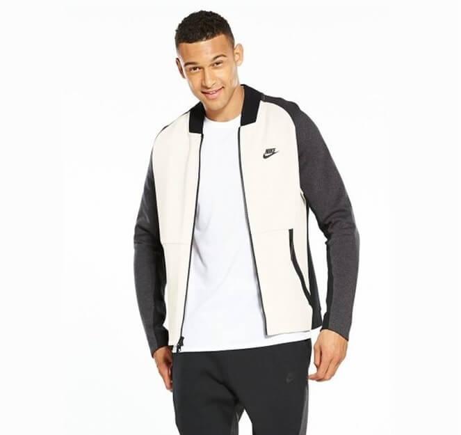 Jaket Varsity Nike Putih