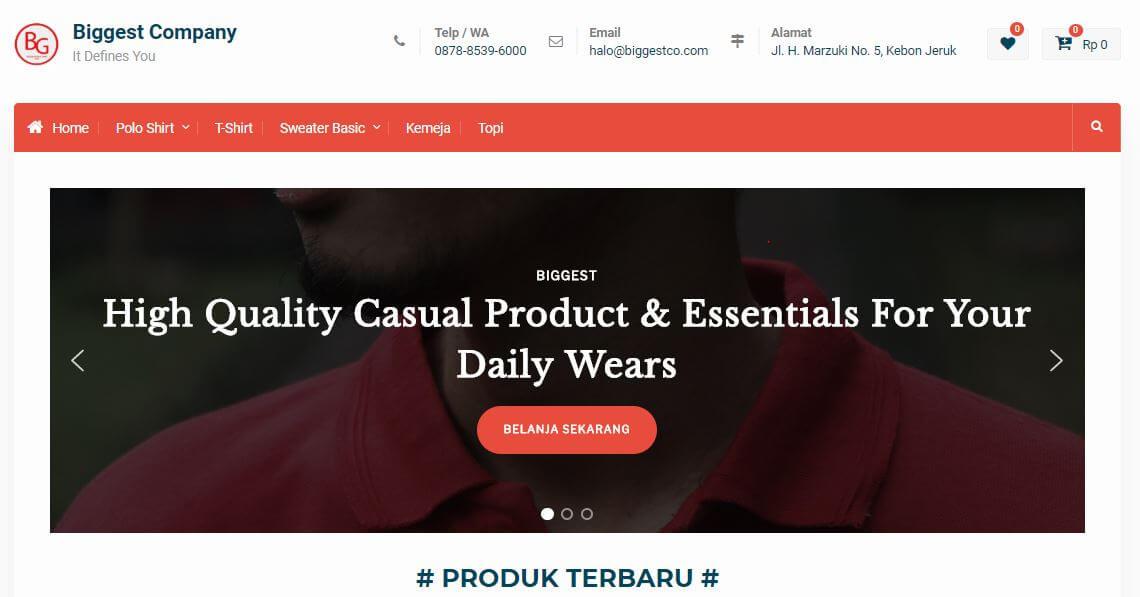 Homepage Situs Biggest Toko Online Fashion