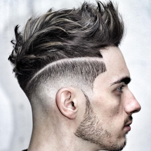 Mixed Quiff Fade