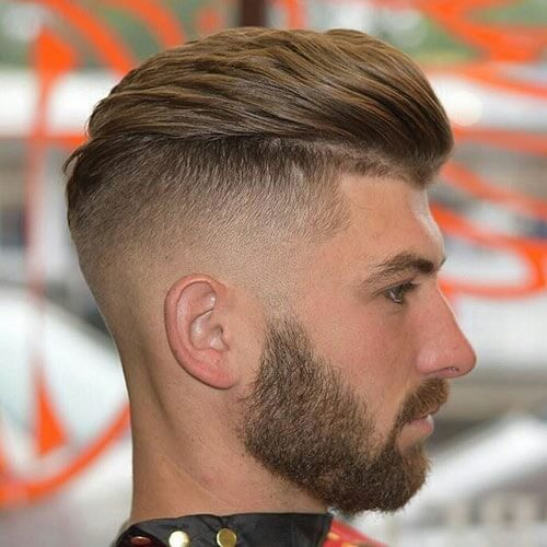 Textured Slicked Back Low Fade
