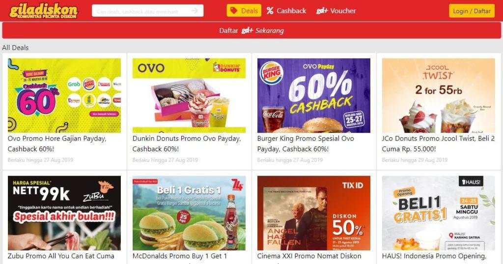 Situs Diskon untuk Belanja Online - Giladiskon