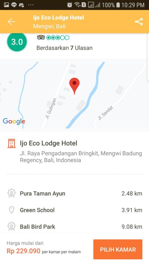 Periksa lokasi hotel di pegipegi