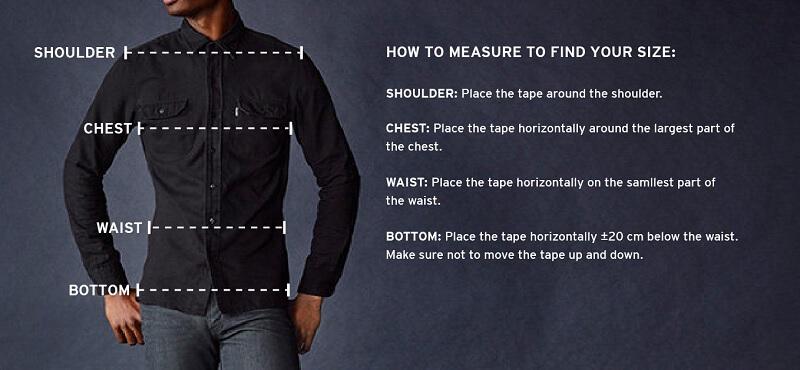Cara mengukur ukuran tubuh pria sebelum membeli pakaian secara online