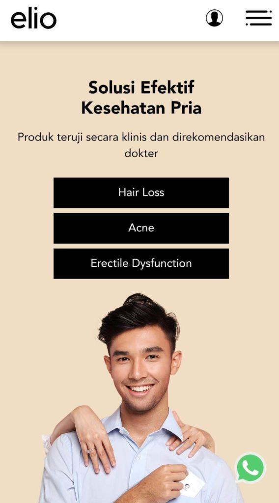 Homepage Halaman Utama Situs Elio