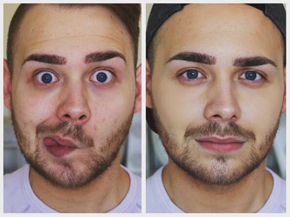 Before After Make Up Look Pria Maskulin - Jake Jamie