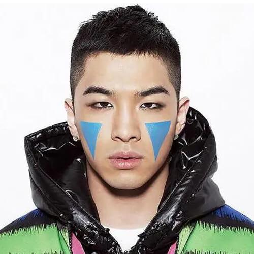 Model rambut pendek korea untuk pria - crewcut