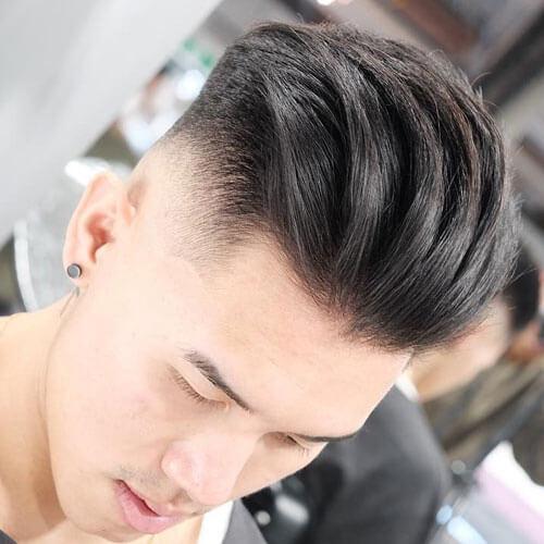 Slicked back untuk model rambut pria