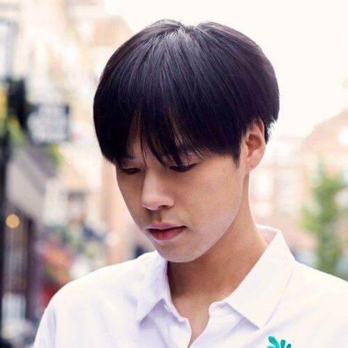 Medium Bowl Cut untuk Model Rambut Pria Jepang