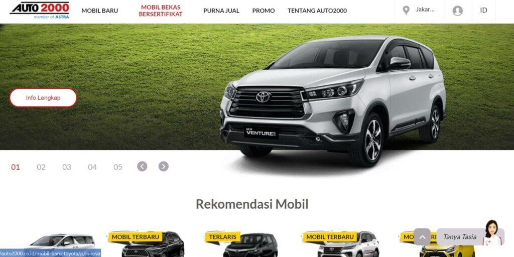 Website Auto2000 -  Tips Beli Mobil Online di situs terpercaya
